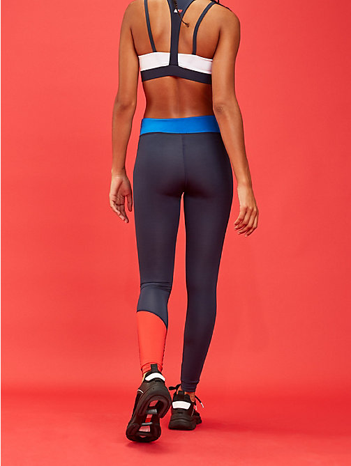 TOMMY SPORT Contrast Panel Stretch Leggings - PRINCESS BLUE - TOMMY SPORT Women - detail image 1