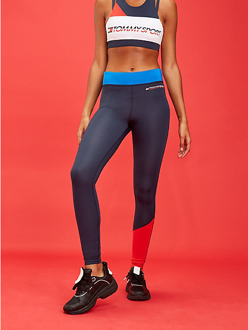 TOMMY SPORT Contrast Panel Stretch Leggings - PRINCESS BLUE - TOMMY SPORT Women - main image