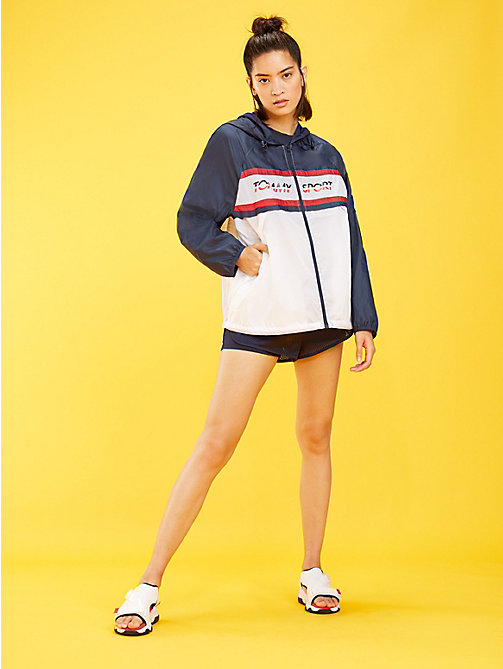 TOMMY SPORT Water Repellant Windbreaker Jacket - SPORT NAVY - TOMMY SPORT Women - main image
