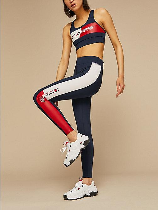 1c26bd43 blue full length flag print leggings for women tommy sport