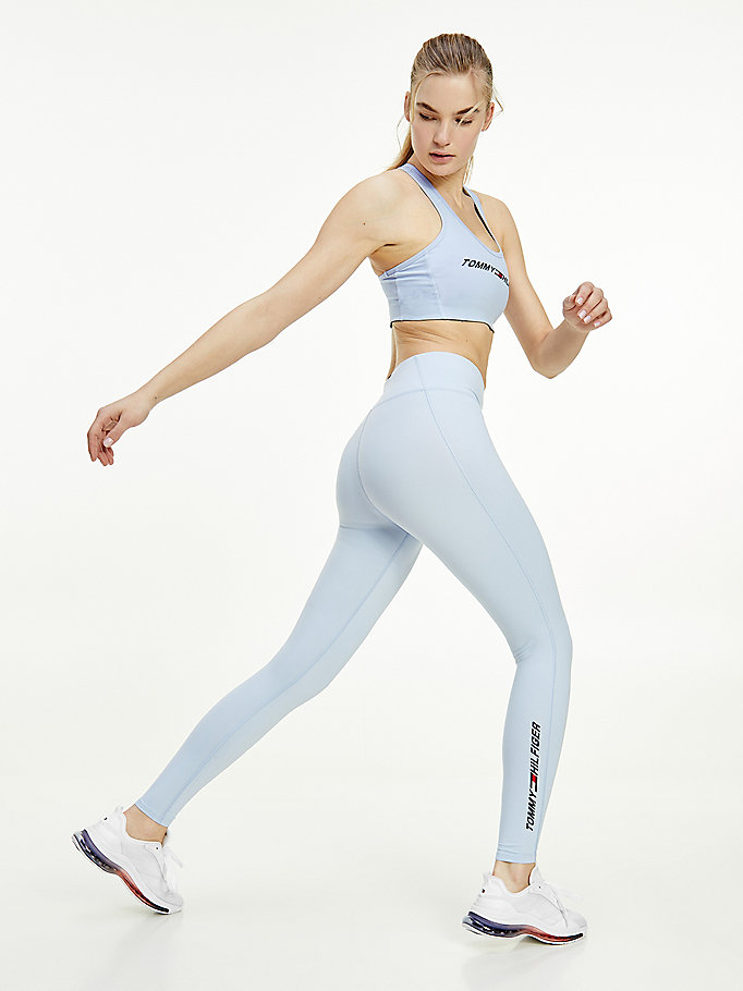 blau sport th cool leggings in voller länge für damen - tommy hilfiger