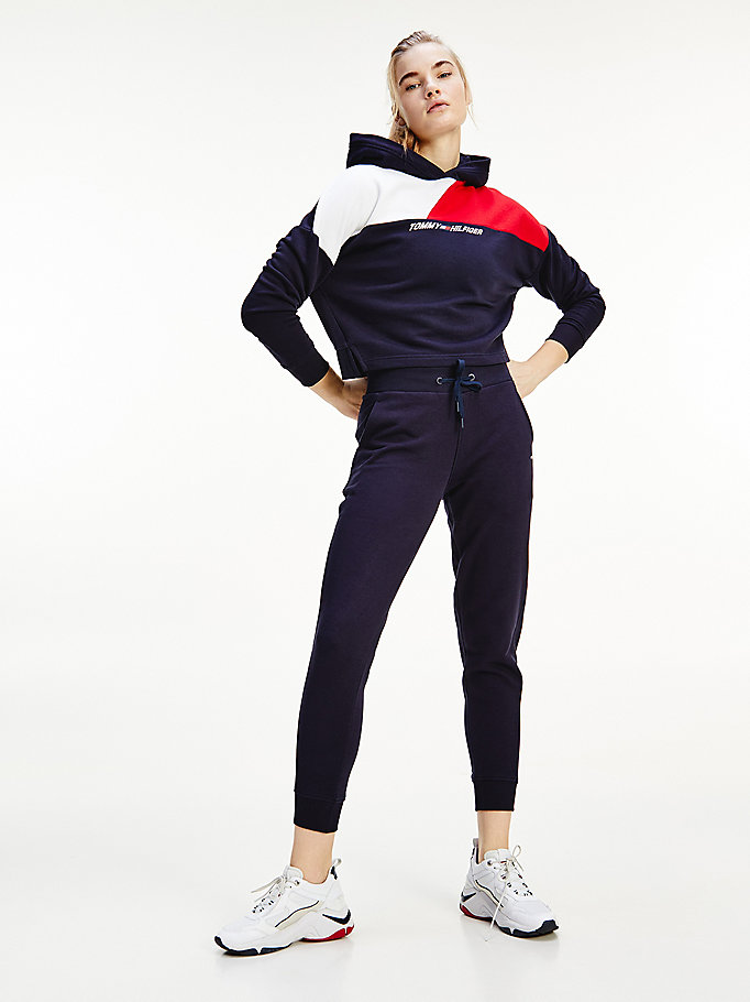 blue sport bio th cool joggers for women tommy hilfiger