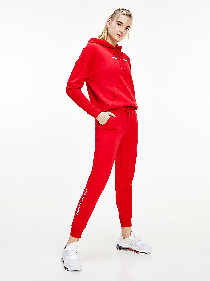 rood sport th cool jogger voor dames - tommy hilfiger