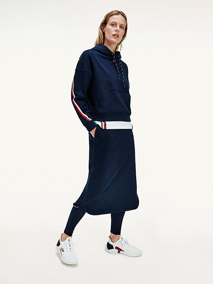 blue sport th cool midi skirt for women tommy hilfiger