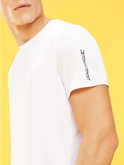 TOMMY SPORT T-shirt compact - PVH WHITE - TOMMY SPORT Hommes - image principale