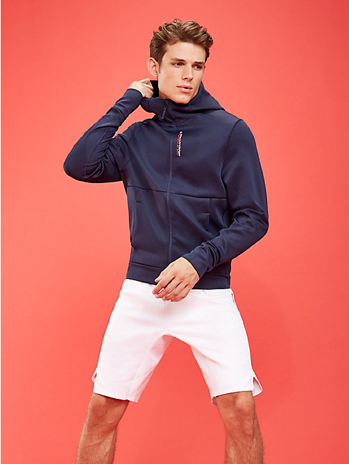 TOMMY SPORT Hoodie aus Stretch-Fleece - SPORT NAVY - TOMMY SPORT Herren - main image