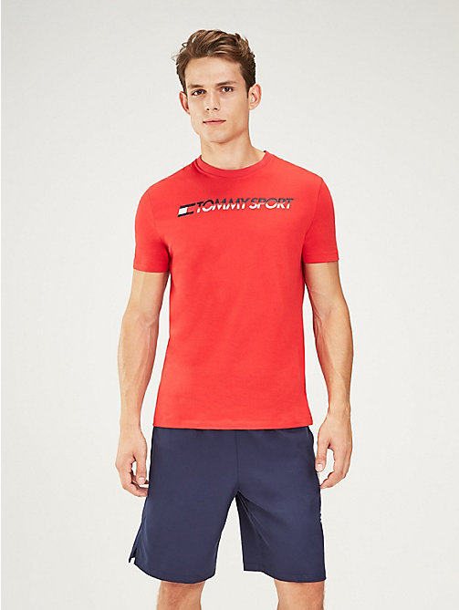 TOMMY SPORT Chest Logo T-Shirt - TRUE RED - TOMMY SPORT Men - main image