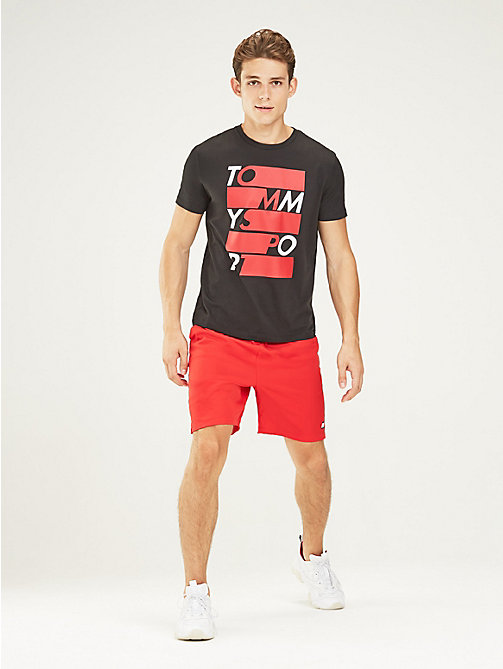 TOMMY SPORT Graphic Logo T-Shirt - PVH BLACK - TOMMY SPORT Men - main image