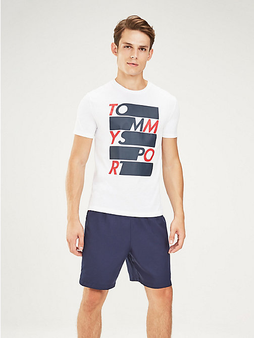 TOMMY SPORT Graphic Logo T-Shirt - PVH WHITE - TOMMY SPORT Men - main image