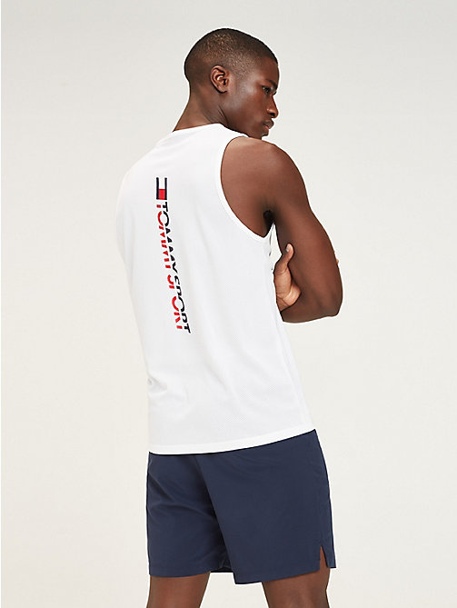 TOMMY SPORT Mesh Back Tank Top - PVH WHITE - TOMMY SPORT Men - detail image 1