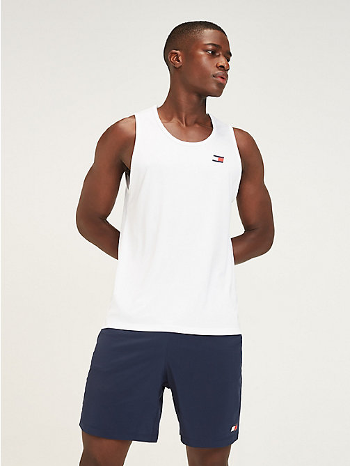 TOMMY SPORT Mesh Back Tank Top - PVH WHITE - TOMMY SPORT Men - main image