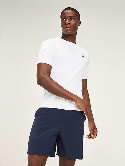 TOMMY SPORT T-shirt dos en maille à logo - PVH WHITE - TOMMY SPORT Hommes - image principale