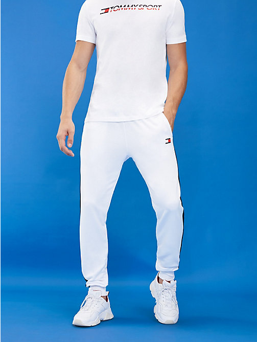 TOMMY SPORT Stripe Leg Joggers - PVH WHITE - TOMMY SPORT Men - main image