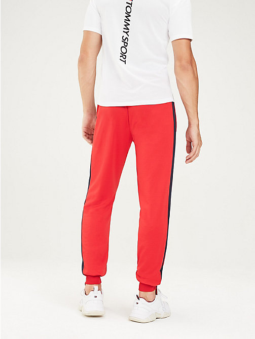 TOMMY SPORT Stripe Leg Joggers - TRUE RED - TOMMY SPORT Men - detail image 1