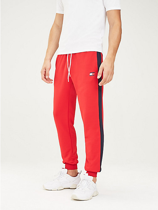 TOMMY SPORT Stripe Leg Joggers - TRUE RED - TOMMY SPORT Men - main image