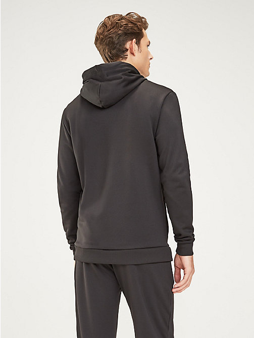 TOMMY SPORT Graphic Logo Hoody - PVH BLACK - TOMMY SPORT Men - detail image 1