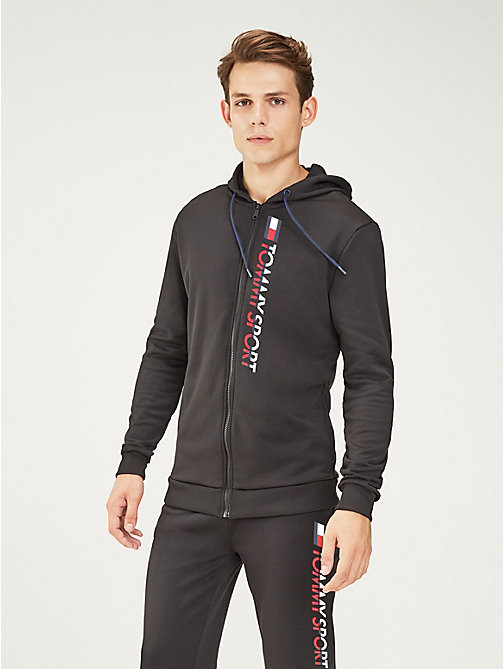 TOMMY SPORT Graphic Logo Hoody - PVH BLACK - TOMMY SPORT Men - main image
