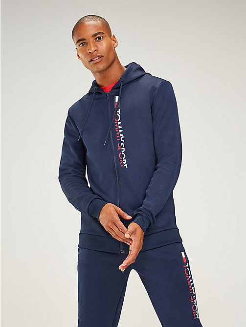 TOMMY SPORT Graphic Logo Hoody - SPORT NAVY - TOMMY SPORT Men - main image