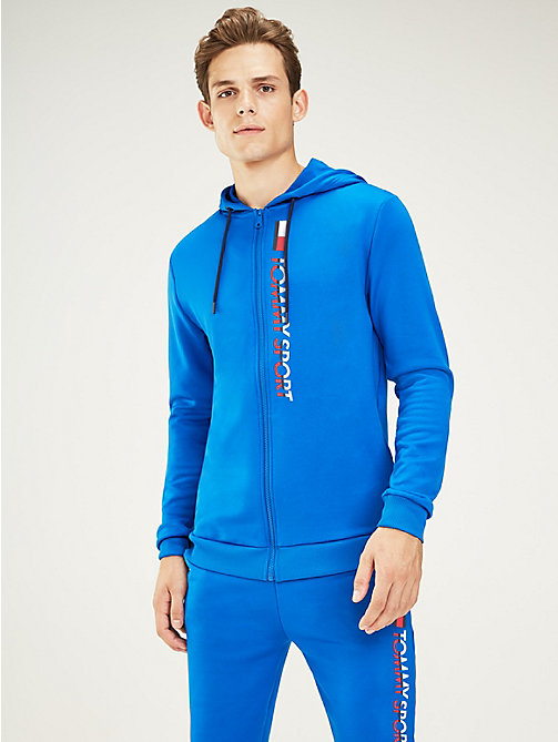 TOMMY SPORT Graphic Logo Hoody - PRINCESS BLUE - TOMMY SPORT Men - main image