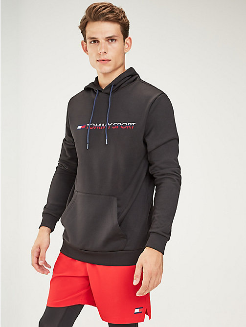 TOMMY SPORT Logo Hoody - PVH BLACK - TOMMY SPORT Men - main image