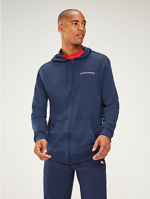 TOMMY SPORT Zip-Thru Hoody - SPORT NAVY - TOMMY SPORT Men - main image