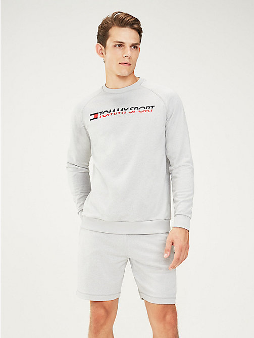 TOMMY SPORT Crew Neck Logo Sweatshirt - GREY HEATHER - TOMMY SPORT Men - main image