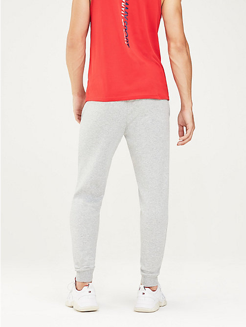 TOMMY SPORT Tapered jogger met logo - GREY HEATHER - TOMMY SPORT Heren - detail image 1