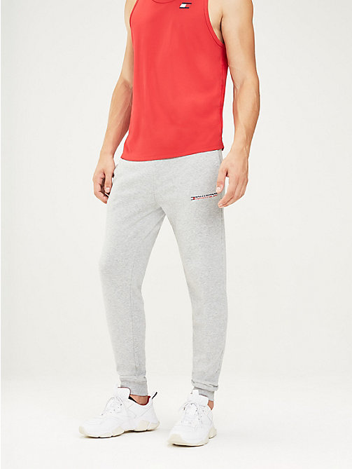 TOMMY SPORT Tapered jogger met logo - GREY HEATHER - TOMMY SPORT Heren - main image