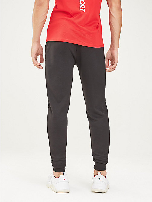 TOMMY SPORT Logo Tapered Joggers - PVH BLACK - TOMMY SPORT Men - detail image 1