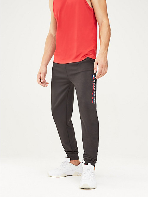 TOMMY SPORT Tapered jogger met logo - PVH BLACK - TOMMY SPORT Heren - main image