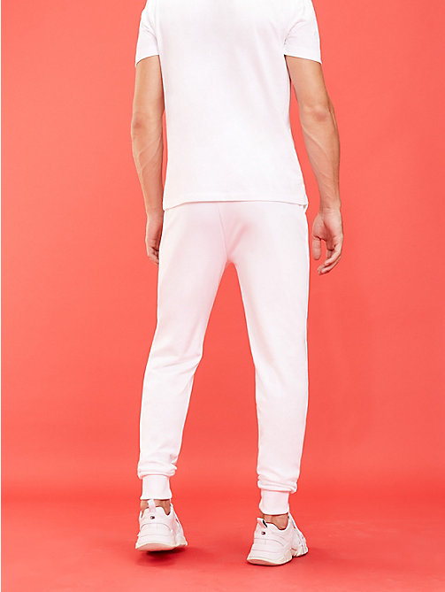 TOMMY SPORT Logo Tapered Joggers - PVH WHITE - TOMMY SPORT Men - detail image 1
