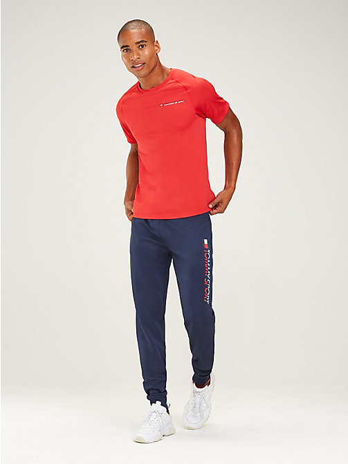 TOMMY SPORT Logo Tapered Joggers - SPORT NAVY - TOMMY SPORT Men - main image