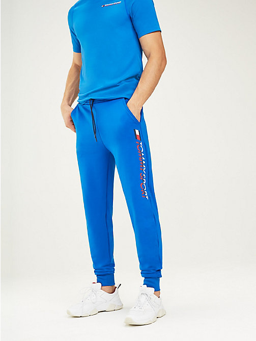 TOMMY SPORT Tapered jogger met logo - PRINCESS BLUE - TOMMY SPORT Heren - main image