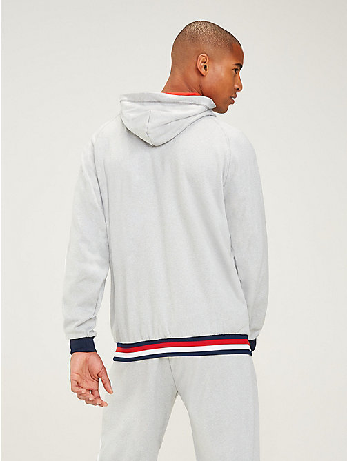 TOMMY SPORT Zip-Thru Contrast Lining Hoody - GREY HEATHER - TOMMY SPORT Men - detail image 1