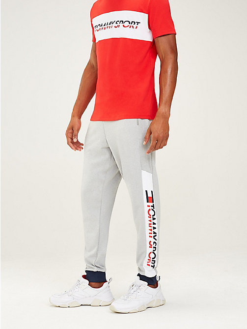 TOMMY SPORT Jogginghose mit Tommy-Streifen am Taillenbund - GREY HEATHER - TOMMY SPORT Herren - main image