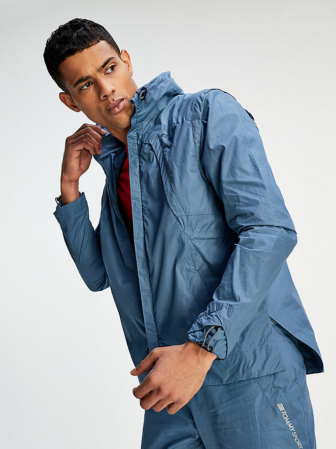 blue organic cotton cottonlab x jacket for men tommy sport