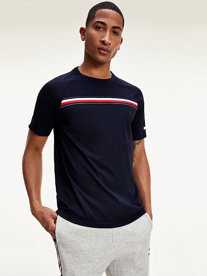 blue striped t-shirt for men tommy sport