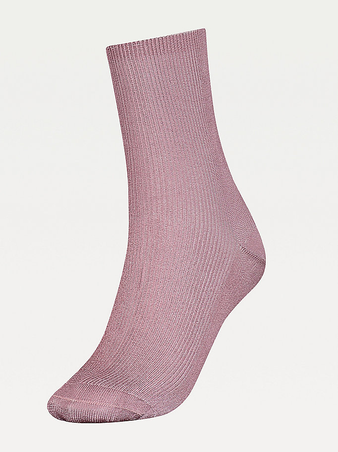grey ribbed socks for women tommy hilfiger
