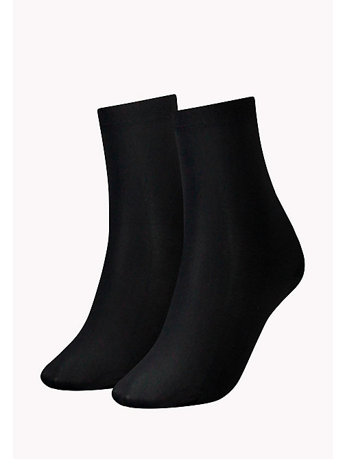 TOMMY HILFIGER 2 Pack Soft Socks - BLACK - TOMMY HILFIGER Socks & Hosiery - main image