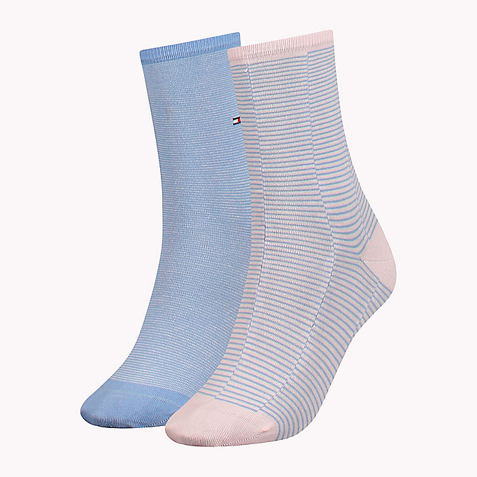 TOMMY HILFIGER 2-Pack Micro Stripe Socks - WHITE - TOMMY HILFIGER Clothing - main image