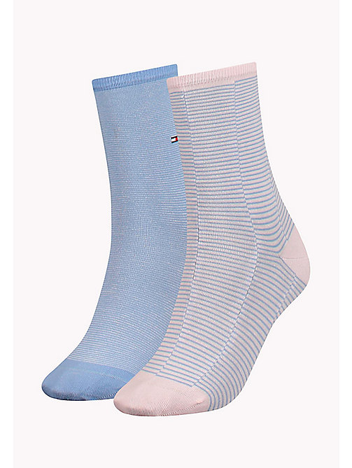 TOMMY HILFIGER TH WOMEN MICRO REPEAT SOCK 2P - LILAC HINT - TOMMY HILFIGER Socks & Tights - main image