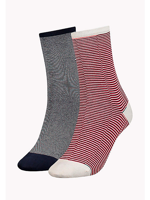 TOMMY HILFIGER 2-Pack Micro Stripe Socks - WHITE - TOMMY HILFIGER Socks & Hosiery - main image
