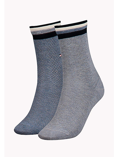 TOMMY HILFIGER 2-Pack Stripe Cuff Socks - JEANS - TOMMY HILFIGER Bags & Accessories - main image