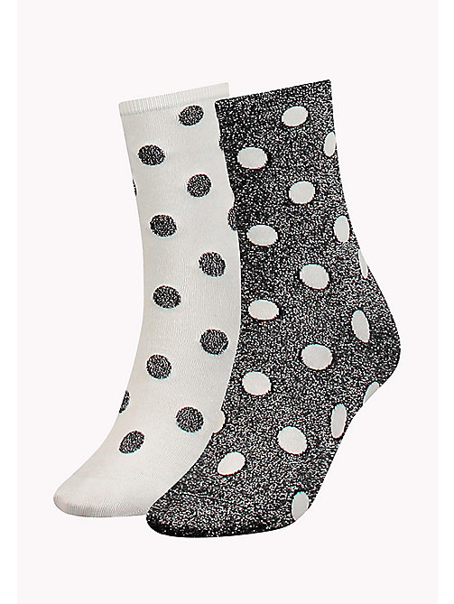 TOMMY HILFIGER 2-Pack Polka Dot Sparkle Socks - BLACK - TOMMY HILFIGER Socks & Hosiery - main image