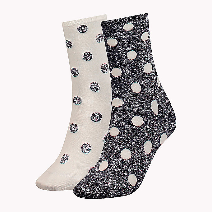 TOMMY HILFIGER 2-Pack Polka Dot Sparkle Socks - BLACK - TOMMY HILFIGER Women - main image