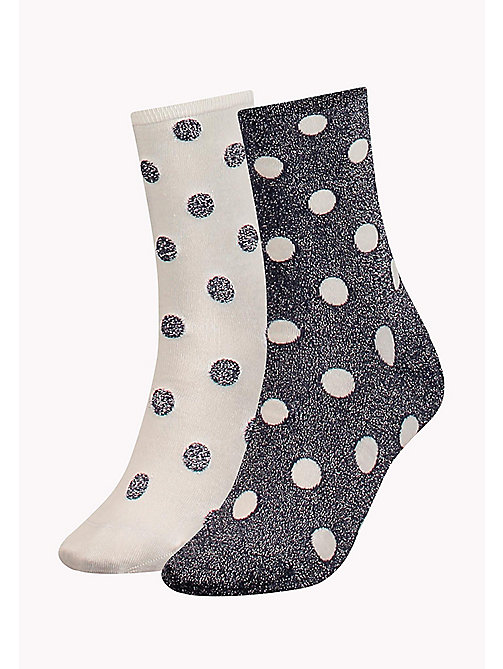 TOMMY HILFIGER 2-Pack Polka Dot Sparkle Socks - MIDNIGHT BLUE - TOMMY HILFIGER Socks & Hosiery - main image
