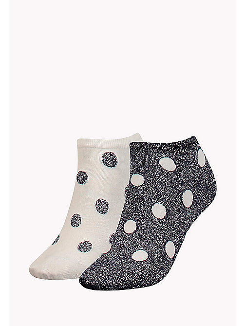 TOMMY HILFIGER 2-Pack Glitter Polka Dot Socks - MIDNIGHT BLUE - TOMMY HILFIGER Socks & Hosiery - main image