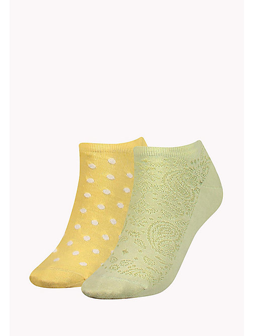 TOMMY HILFIGER 2-Pack Paisley Polka Dot Socks - SUNSHINE - TOMMY HILFIGER Bags & Accessories - main image