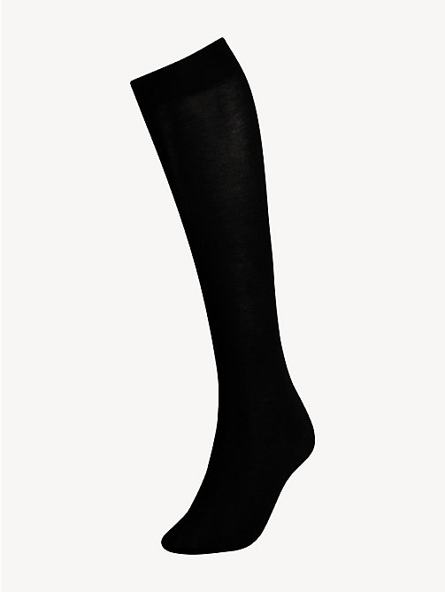 TOMMY HILFIGER Cotton Knee High Sock - BLACK - TOMMY HILFIGER Skarpetki & Rajstopy - main image