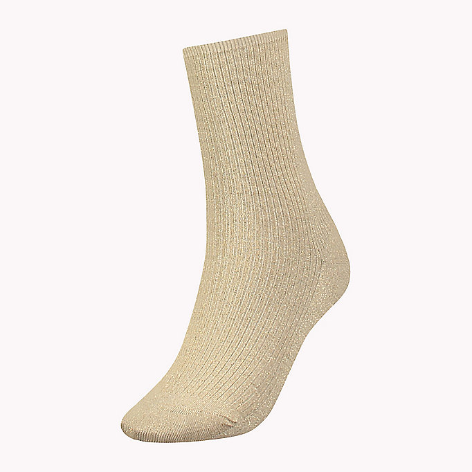 TOMMY HILFIGER TH WOMEN HOLIDAY RUNWAY SOCK 1P - BLACK - TOMMY HILFIGER Abbigliamento - immagine principale